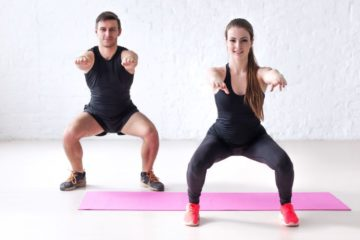 Man and Woman Working Out To Slim Skinny Legs