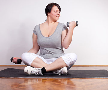 Woman With Fat Neck Working Out