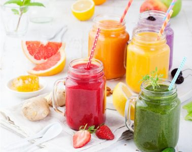 Various Refreshing Apple Fruit Smoothies in A Glass