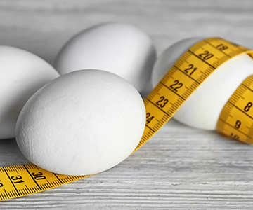 Boiled Egg Diet With Tape Measure