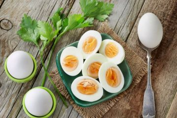 Boiled Eggs in A Plate Diet