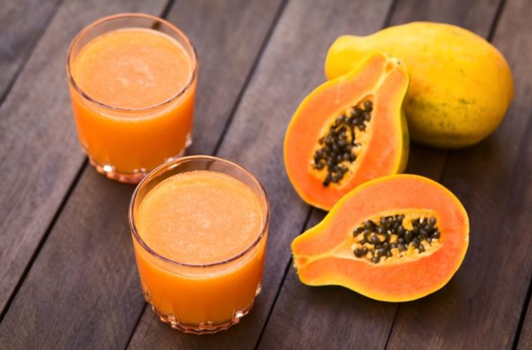 papaya-juice-glass