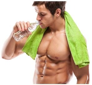 man-with-six-pack-drinking-water