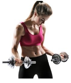young-woman-with-weights
