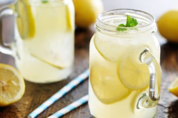 Refreshing Lemon Water in Jars