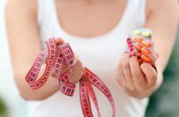 Woman Burning Fat Using Weight Loss Pills