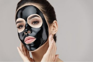 Woman Using A Blackhead Removal Face Mask