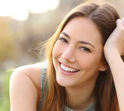 girl with healthy skin, hair and eye
