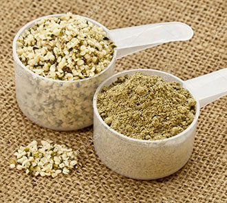 Hemp protein powder plant-based for weight-loss