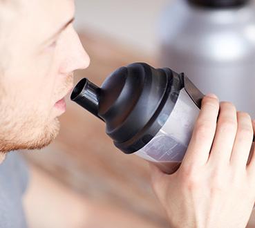 Drinking Weight Gainer Shake