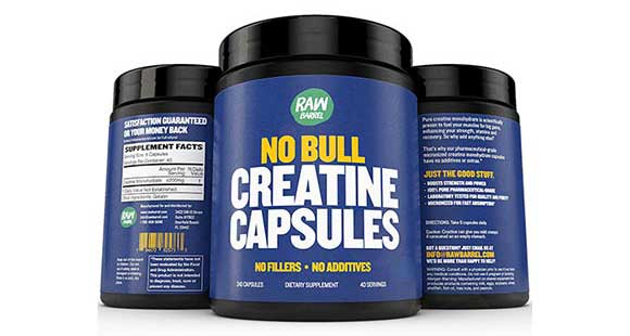 No Bull Creatine Capsules By Raw Barrel