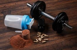 Pre-workout supplements before exercise.