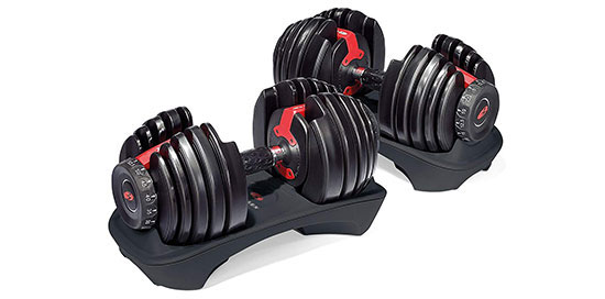 The Bowflex SelectTech 552 Adjustable Dumbbells
