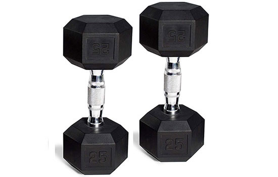 CAP Barbell Hex Rubber Dumbbell Set