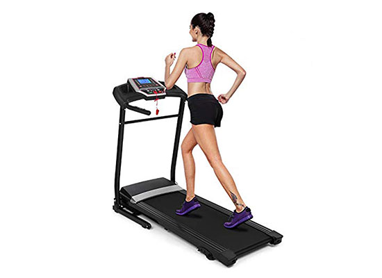 Folding Electric Support Motorized Power Running Fitness Treadmill by Hurbo