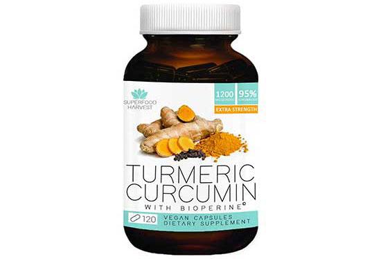 Organic Turmeric Curcumin with BioPerine by Superfood Harvest