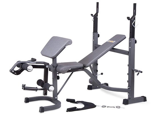 Olympic Weight Bench with Preacher Curl, Leg Developer and Crunch Handle BCB5860 by Body Champ