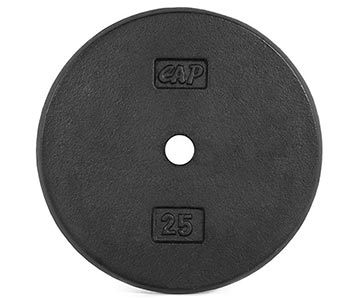 Standard Weight Plate (Black) by CAP Barbell