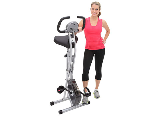 Folding Magnetic Upright Bike with Pulse by Exerpeutic