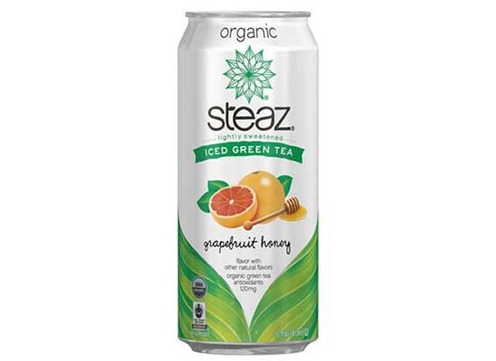 Organic Iced Green Tea, Lightly Sweetened Grapefruit Honey by Steaz