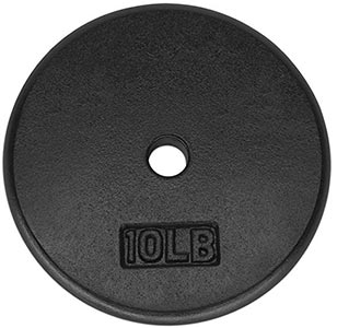 Standard 1-Inch Cast Iron Weight Plates by Yes4All
