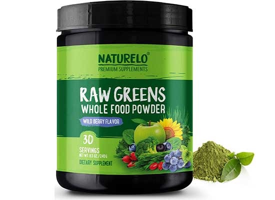 Raw Greens Whole Food Powder by Naturelo