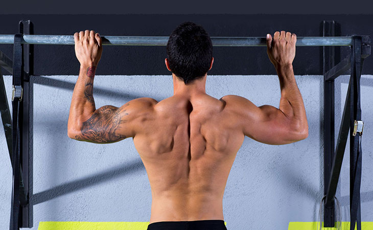 Man Showing How To Do Pull Ups