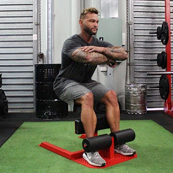 Man Showing How To Do The Sissy Squat