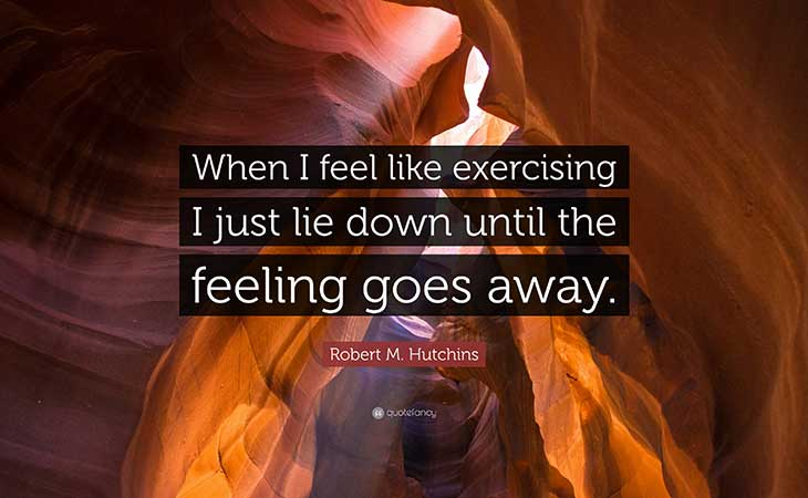 Exercise I lie Down Until The Feeling Passes Robert Hutchins Quote