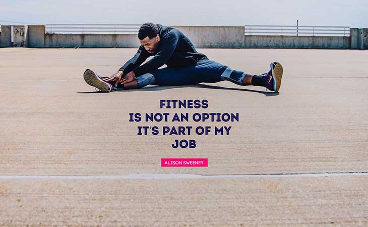 Fitness Not an Option It's Part of Job Quote