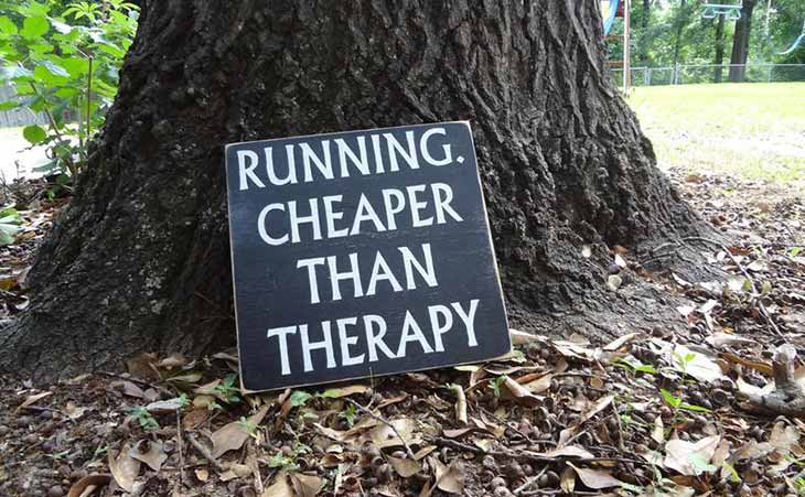 Running Is Cheaper Than Therapy Quote