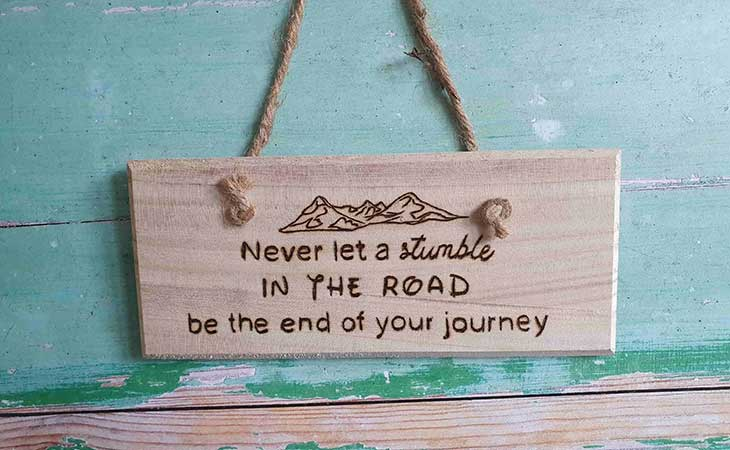 Stumble in the Road Not End of the Journey Quote