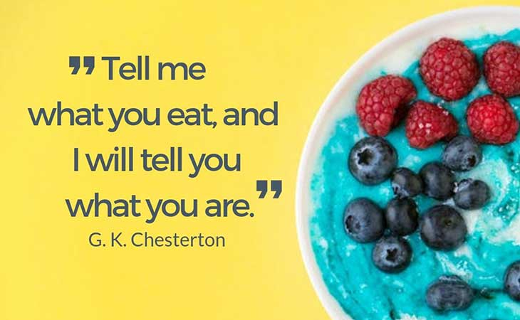 What You Eat What You Are GKChesterton Healthy Eating Quote