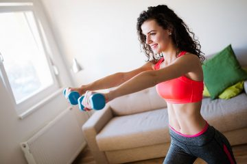 Woman Motivated To Start Working Out Weight Loss