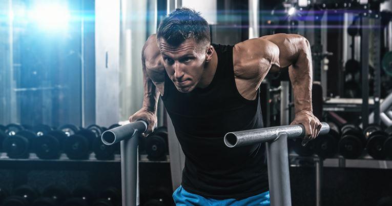 Man doing a workout