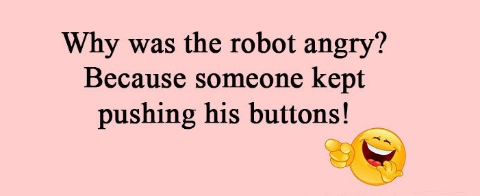 Robot joke about anger