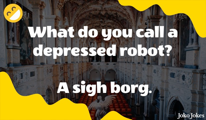What do you call a depressed robot ?